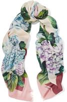 Dolce & Gabbana Printed Cashmere And Silk-blend Scarf - Antique rose
