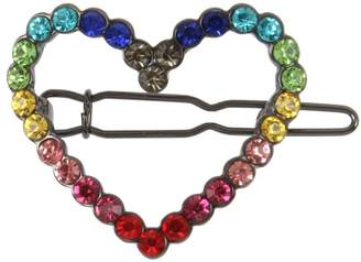 Betsey Johnson Rainbow Crystal Hair Pin Set