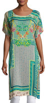 Johnny Was Modeli Printed Long Tunic, Multicolor