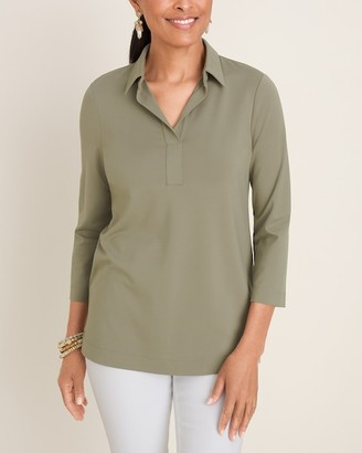 Chico's Solid Popover Shirt
