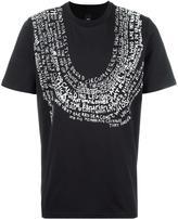Oamc text print T-shirt - men - Cotton - L