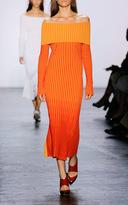 Prabal Gurung Bi-Color Off The Shoulder Knit Dress