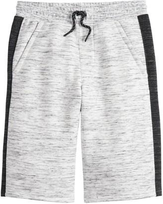 Urban Pipeline Boys 8-20 Side Stripe Knit Jogger Shorts in Regular & Husky