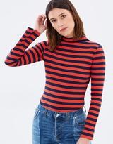 Warehouse Stripe Rib Top