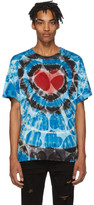 Amiri Blue Hearts Tie-Dye Tee