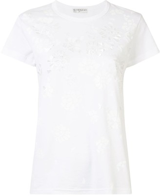 Givenchy floral applique T-shirt