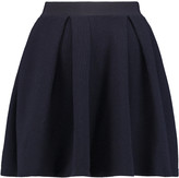 MAISON KITSUNÉ Fancy wool-crepe mini skirt