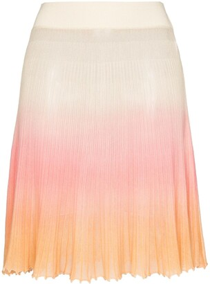 Jacquemus Helado Ombre Effect Knitted Skirt