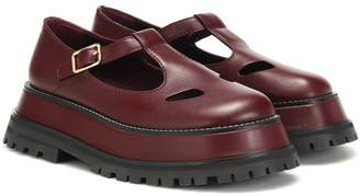Burberry Aldwych leather Mary Jane loafers