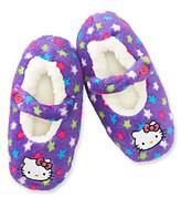 Hello Kitty Girls' Purple Fuzzy Stars Slippers