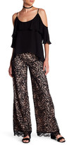 Nicole Miller Lace Combo High Waist Pant