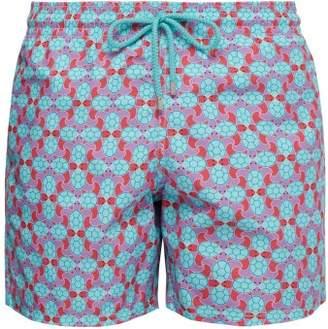Vilebrequin Moorea Turtle Print Swim Shorts - Mens - Pink Multi