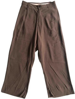 Rick Owens Anthracite Silk Trousers