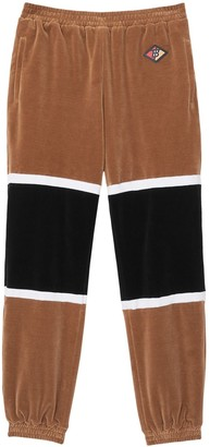 Burberry Logo Graphic Striped Chenille Trackpants