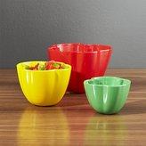 Crate & Barrel Pepper Bowls Set of Three