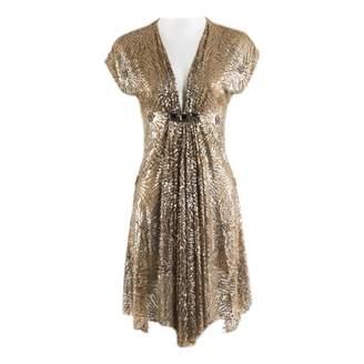 Naeem Khan Gold Silk Dresses