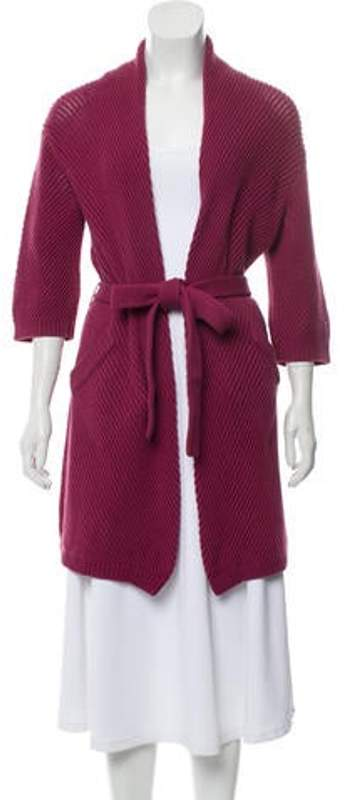 Max Mara Medium-Weight Knit Open Front Cardigan Medium-Weight Knit Open Front Cardigan