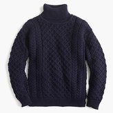 Aran CraftsTM wool cable turtleneck sweater