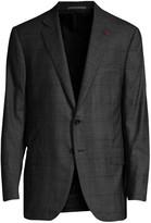 Isaia Regular-Fit Check Wool Jacket
