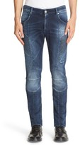 Pierre Balmain Men's Knit Biker Jeans