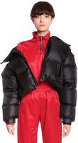 Misbhv Oversized Cropped Nylon Puffer Jacket