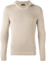 Zanone high neck slim-fit jumper - men - Cotton - 52