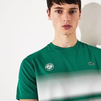 Lacoste Men's SPORT Roland Garros Breathable Ombre T-Shirt