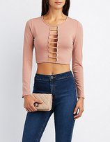 Charlotte Russe Caged Plunging Crop Top