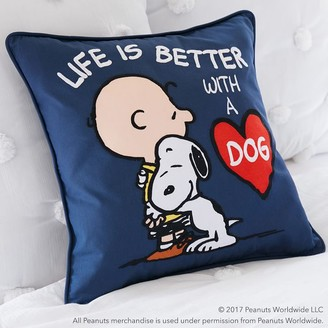 Pottery Barn Teen Peanuts Life Is Better With A Dog Pillow Cover