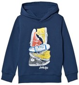 Converse Navy Stacked Remix Hoodie