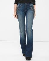 White House Black Market Curvy Embellished Bootcut Jeans