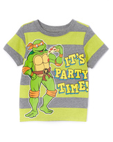 Freeze Green & Gray TMNT 'It's Party Time' Tee - Toddler