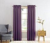 Sun Zero Barrow Energy Efficient Rod Pocket Curtain Panel, 54 x 63 inch, Plum Purple