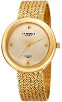 Akribos XXIV Women's Quartz Stainless Steel Casual Watch, Color:Gold-Toned (Model: AK903YG)