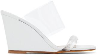 Maryam Nassir Zadeh White Olympia Wedge Sandals