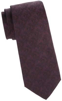 Isaia Tonal Floral Silk Tie