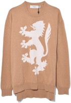 Pringle Lion Sweater in Camel/Off White