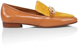 Tory Burch Jessa Suede & Leather Loafers