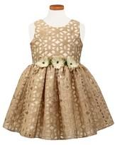 Sorbet Toddler Girl's Floral Burnout Party Dress