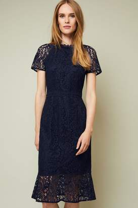 Phase Eight Womens Navy Mabel Lace Dress - Blue