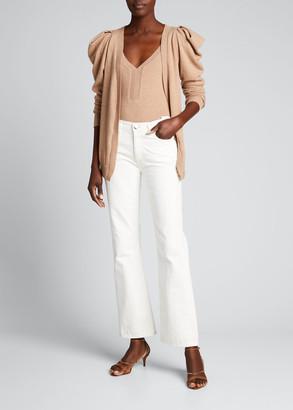 Johanna Ortiz Camel Inca Cardigan & Bodysuit Knitwear Set