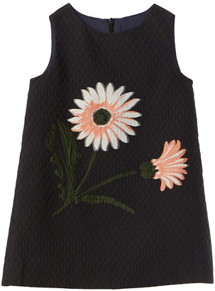 Oscar de la Renta Max Flower Jacquard Silk-Blend Dress