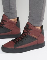 Religion League Snakeskin Hi Top Sneakers