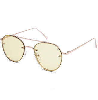 Full Tilt Rin Yellow Aviator Sunglasses