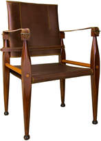 Houseology Authentic Models Bridle Leather Campaign Chair