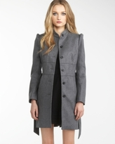 Melton Peplum Coat