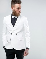 Noose & Monkey Double Breasted Superskinny Suit Jacket