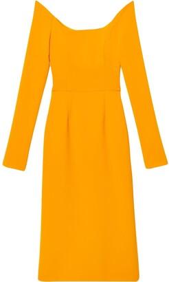Carolina Herrera Off-Shoulder Mid-Length Dress