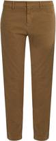 Nili Lotan Tel Aviv stretch-cotton twill cropped trousers
