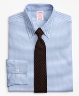 Brooks Brothers Original Polo Button-Down Oxford Traditional Relaxed-Fit Dress Shirt, Gingham